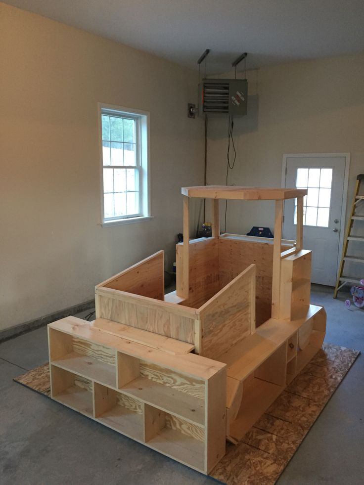 Bulldozer Bed Before Paint In 2019 Construction Bedroom