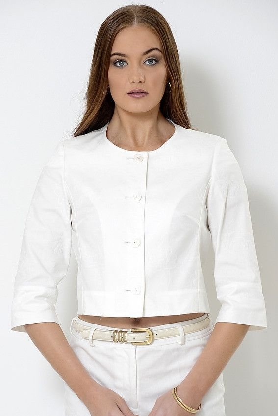 Cropped unlined 'Angie' boxy jacket suitable for summer country racing fashion, cruising fashion, smart casual functions, women who do lunch, Pia du Pradal Park Road and Brisbane Arcade, Brisbane City, online boutique