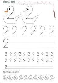 Schede didattiche di prescrittura di numeri|Lamammacreativa