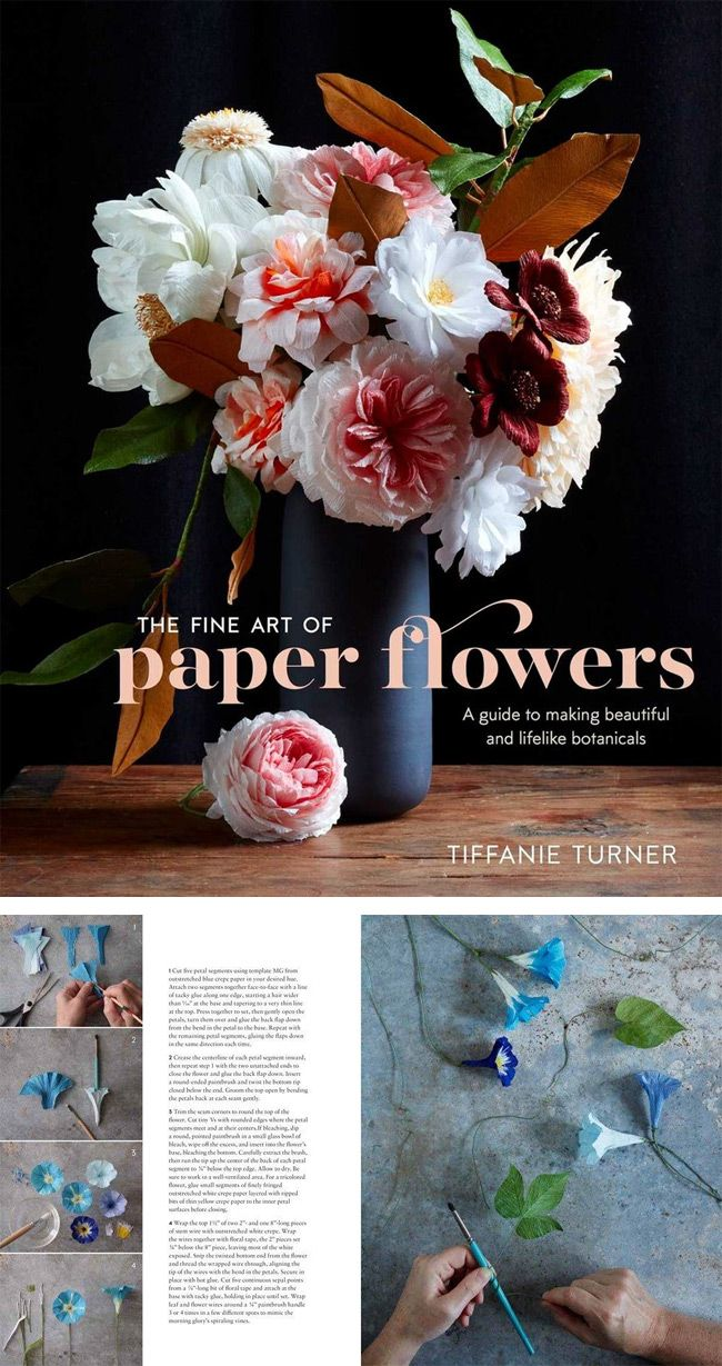 San Francisco artist Tiffanie Turner shares her secrets for creating beautiful and lifelike botanicals using everyday materials in her debut book, The Fine Art of Paper Flowers. A licensed architect, Tiffanie's technical training combined with her love the natural world has helped her develop and refine a multitude of impressive techniques for creating unique paper flowers.