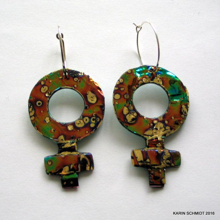 Øreringe. Earrings. Friendly plastic.