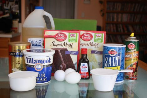 The best cake recipe that starts from a box mix! Moist, fluffy and great for staking cakes. Easy to throw together and only one recipe for both chocolate and vanilla cake! Only cake recipe I use and I get great compliments on it every time.