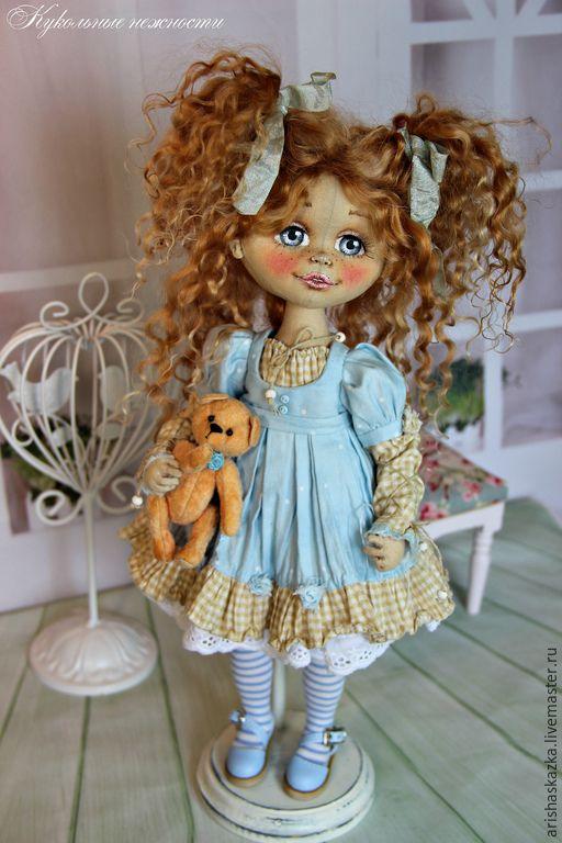 Купить Неженка . Кукла авторская текстильная . Кукла ручной работы. - кукла ручной работы