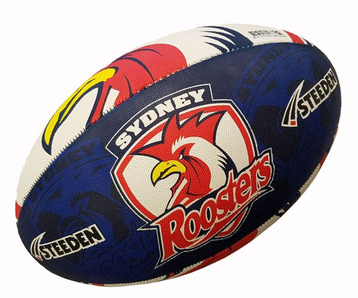Sydney Roosters Rugby Ball by Steeden
