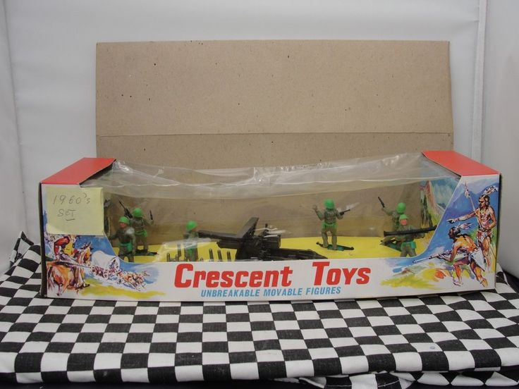 CRESCENT TOYS 1960'S COMMANDO SET NO. 3000  NEW OLD STOCK BOXED in Toys & Games, Toy Soldiers, Crescent | eBay!