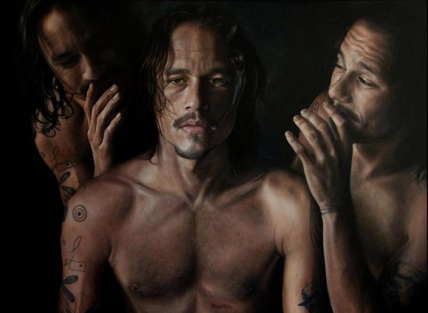 This painted portrait of Heath Ledger won the People's Choice Archibald Prize for 2008. The artist and Ledger were friends for a number of years. Date: 2008. Artist: Vincent Fantauzzo.