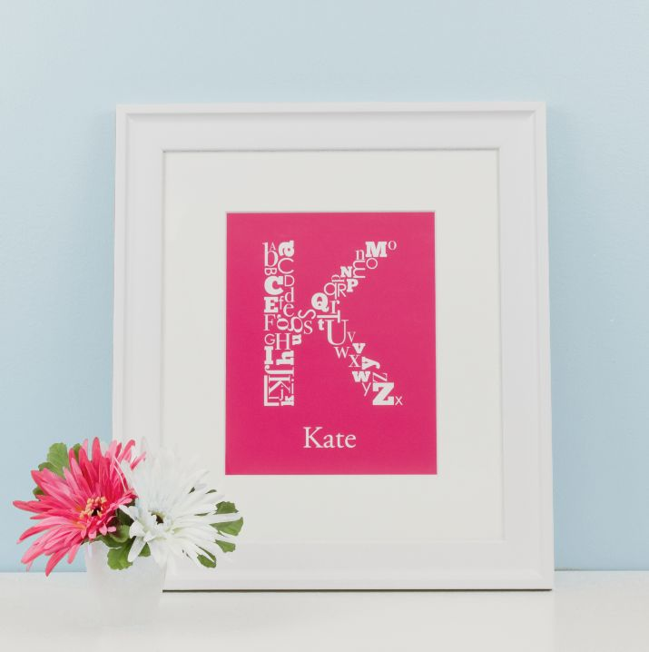 "Choose a colour, personalize it, and make it your own! ""Alphabet Initial Prints"" by Simple Sugar Design"