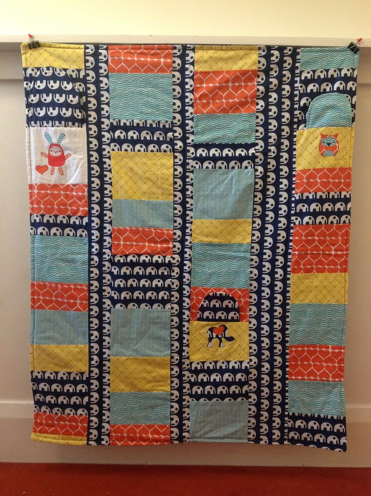 Peekaboo quilt for baby Hudson x