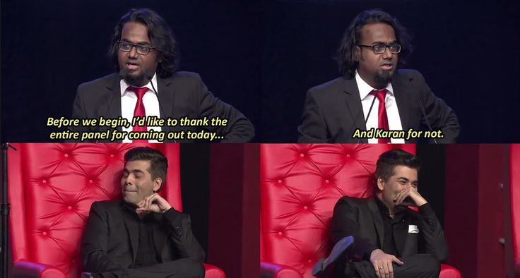Karan's closet was thoroughly explored.   The 18 Most Outrageous Moments From All India Bakchod's Roast Of Arjun Kapoor And Ranveer Singh