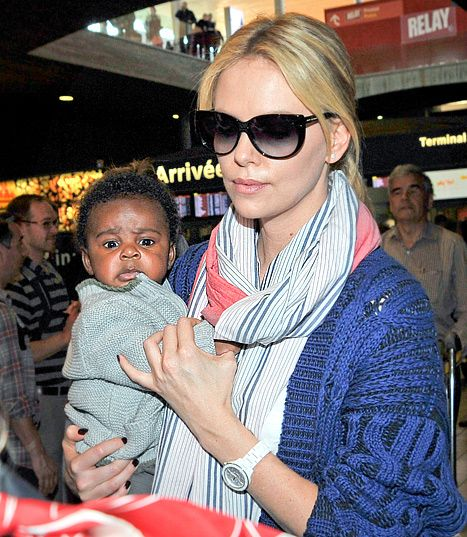 Introducing the adorable Jackson Theron with his Mom Charlize in Paris