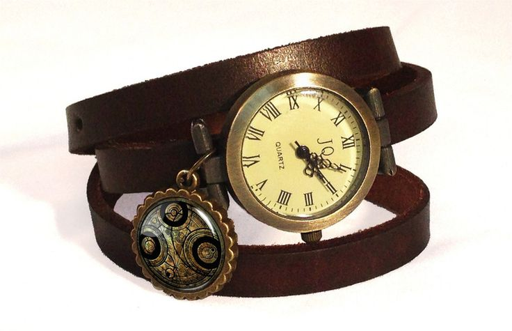 Leather watch bracelet - Doctor Who, 0532WDB from EgginEgg by DaWanda.com