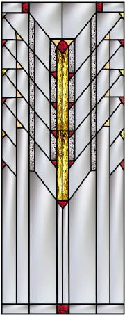 Stained Glass Windows Inspired by the Frank Lloyd Wright