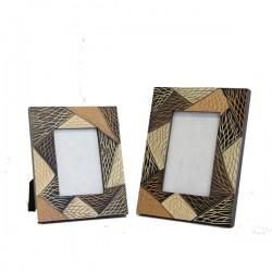 Photo Frames : Mango Wood Photo Frames Matching Set 4x6 and 3x5