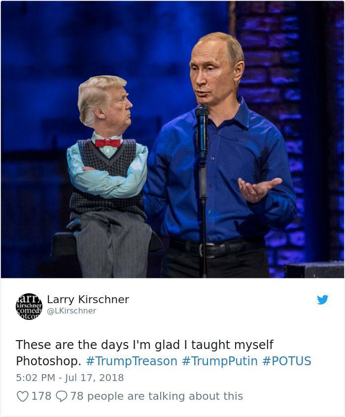116 Of The Most Brutal Memes Trolling Trump After His Disgraceful Performance When Meeting Putin In 2020 Putin Trump Putin Meetings Humor