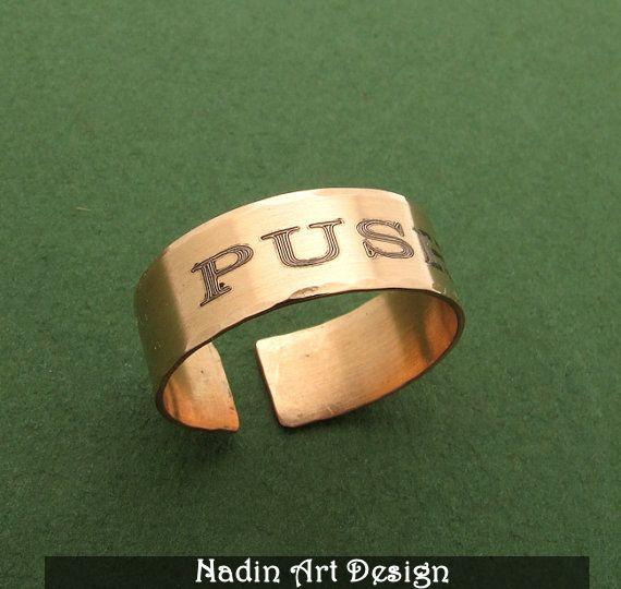 Unisex Personalisierter Ring. Ring mit Initialen von NadinArtDesign auf DaWanda.com