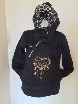 Poleron Corazon Animal Print $14.000.-