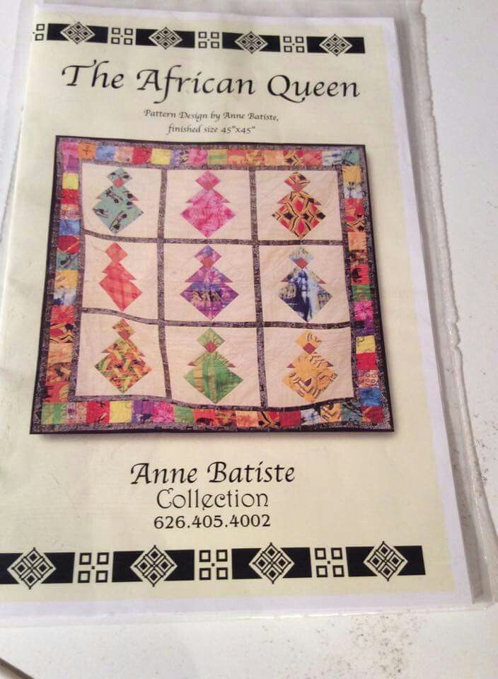 The African Quilt quilt block pattern - Anne Batiste Collection