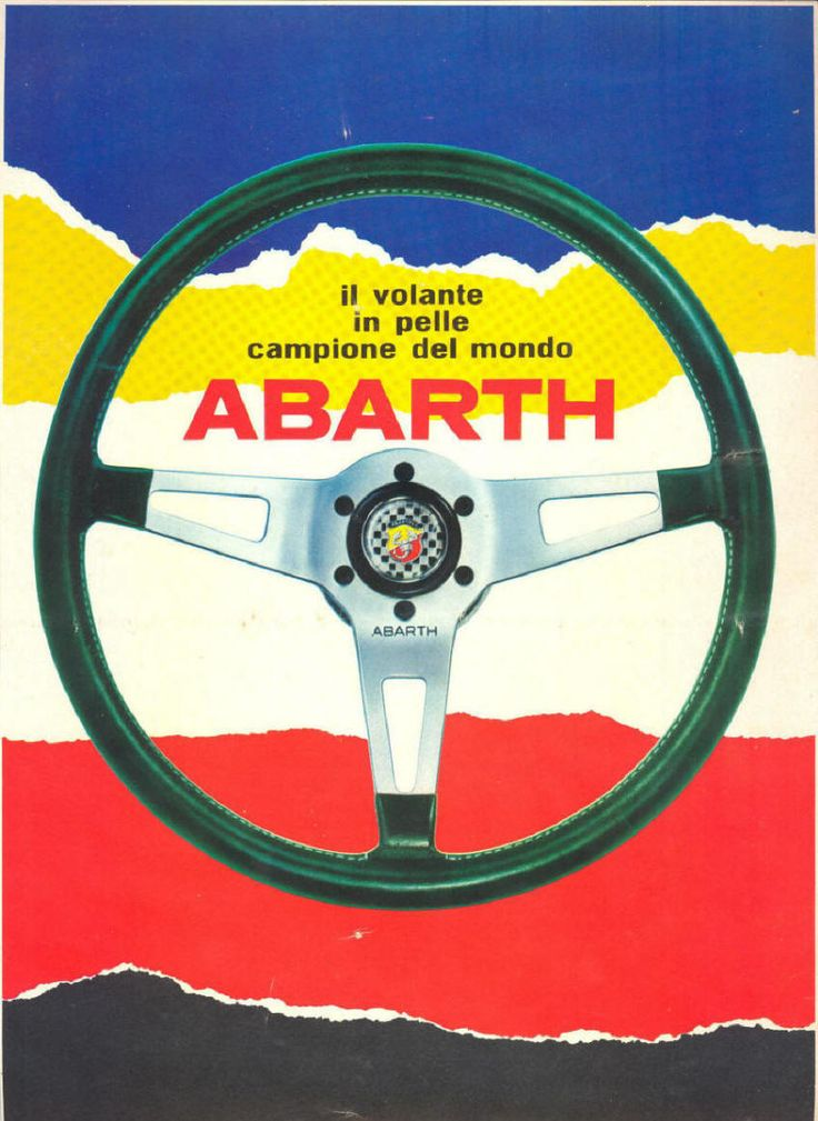 Fiat Abarth steering wheel advertising