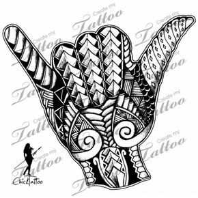 Marketplace Tattoo Polynesian Shaka Tribal #8212 | CreateMyTattoo.com