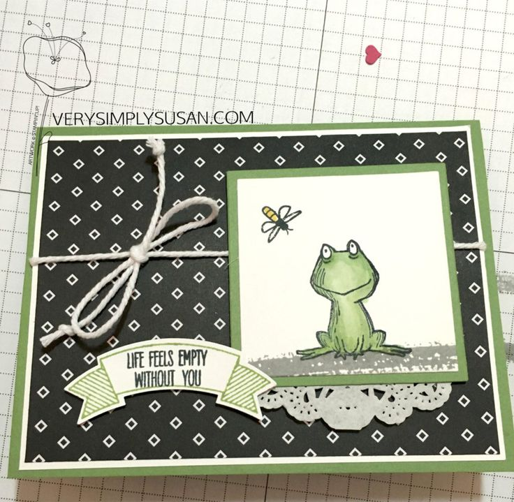 I know I just did a frog card, but I had to do another once I noticed this firefly in the Jar of Love set! Perfect for this little guy! And very funny with this sentiment. And while I got lots of new stamps, I did not order much DSP. So, I had to be …