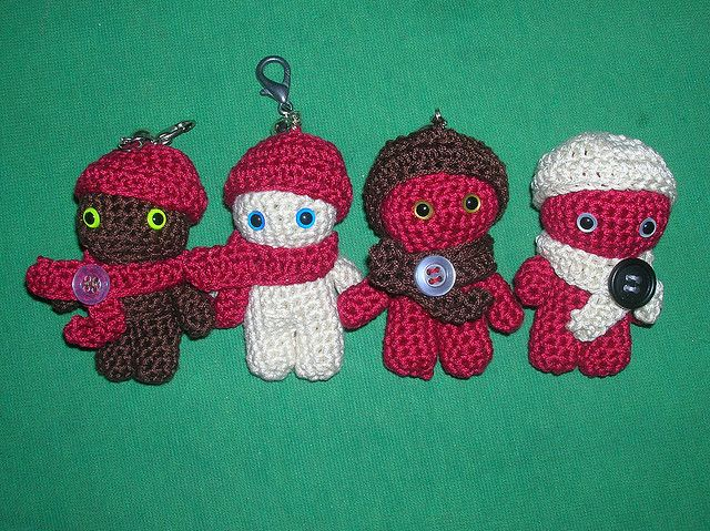 Crochet Amigurumi Keychain Free Pattern : Best crochet keychain sleutelhangers images
