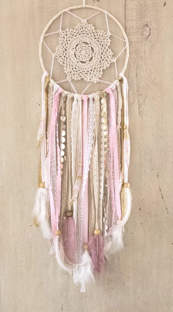 Pink and Gold Dream Catcher Pink Dreamcatcher Pink…
