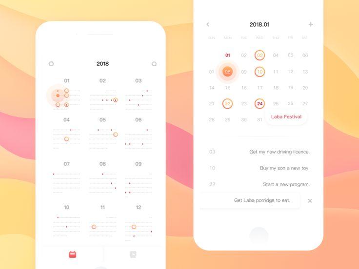 Affair Arrangement Page(Calendar App)