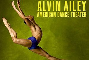 Dancer Clifton Brown in a promotional poster for Alvin Ailey American Dance Theater