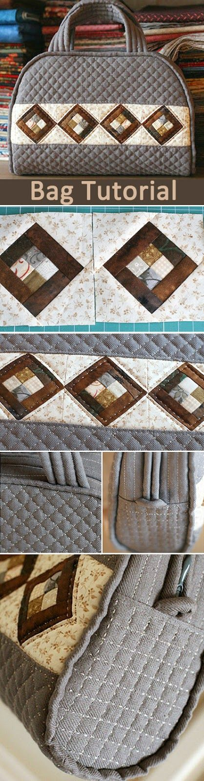 How to sew a bag in patchwork & quilting technique. DIY tutorial in pictures. Лоскутная сумка http://www.handmadiya.com/2015/09/quilt-patchwork-bag.html