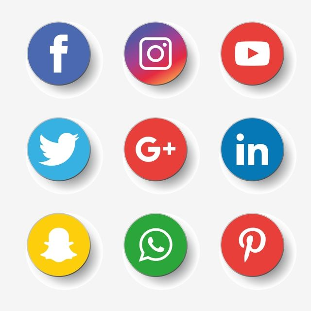 Social Media Icons Set Logo Vector Illustrator Social Media Clipart Social Icons Logo Icons Png And Vector With Transparent Background For Free Download Social Media Icons Social Media Icons Free Media