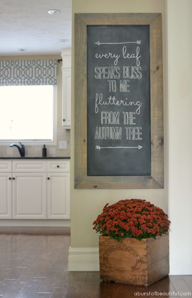 a burst of beautiful fall chalkboard art - Kitchen Chalkboard Ideas