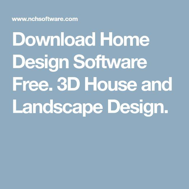 Download Home Design Software Free. 3D House and Landscape Design.
