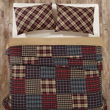 """Austin Patchwork Queen Quilt - Queen quilt measures 90x90"""" - Made from 100% cotton - Wash and Care instructions Bring simple, rustic style to your bedroom when you add our Austin patchwork queen quilt"""