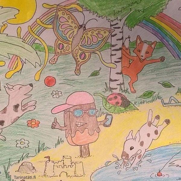 Vain mielikuvitus rajana | Tarinatädin värityskuvat