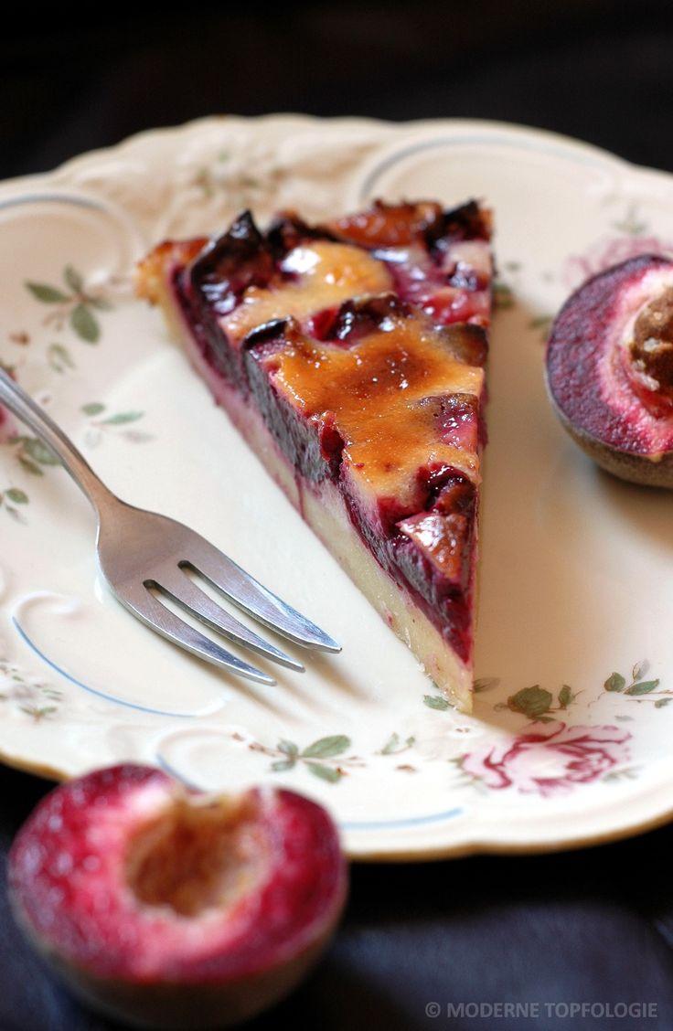 Tarte vom roten Weinbergpfirsich. #Backen #Tarte #Pfirsich #Kuchen