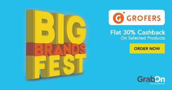 The #Grofers Big Brands Fest is here to help you save on your monthly budget.  #grocery #groceryshopping