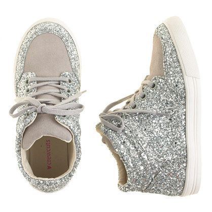 J.Crew - Girls' glitter suede high-tops