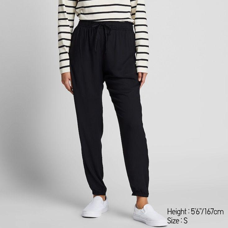 Women Drape Jogger Pants Black Trousers Women Jogger Pants Outfit Womens Loungewear