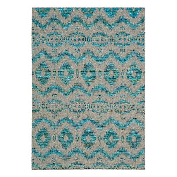 Spectrum rugs spe01 in turquoise and grey buy online from the rug seller uk