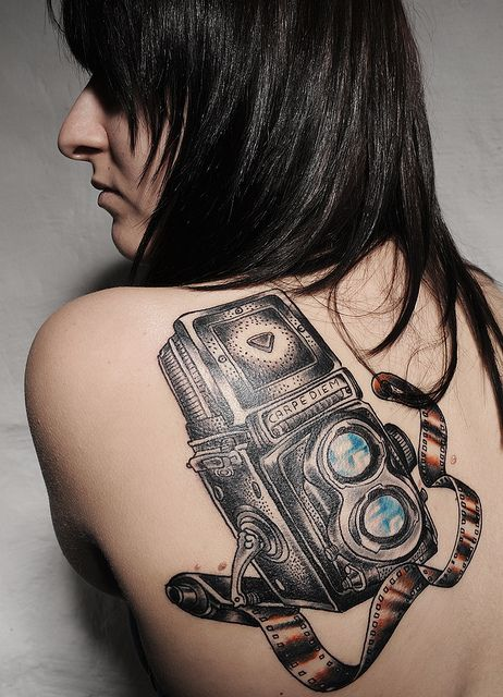 camera  Tattoo I like this one but if I got this it would have to be so much smaller ;)