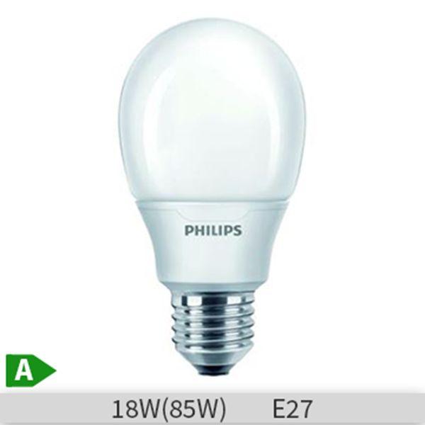 Bec economic Philips Economy bulb, forma clasica, 18W,  E27,  6000 ore, lumina calda http://www.etbm.ro/becuri-economice
