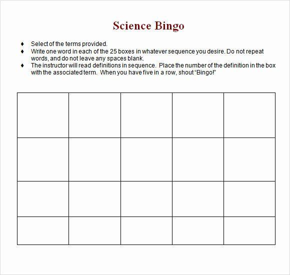 Blank Word Document Free In 2020 Bingo Template Words Templates