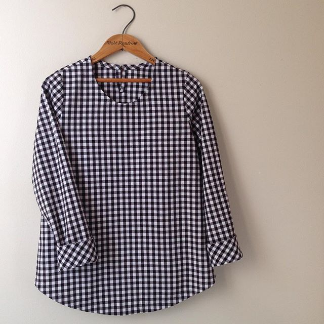 Black gingham top
