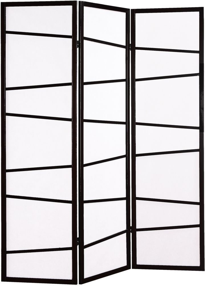 Good Black Stylish Three Panel Screen Room Divider Foldable White And Black Nice Ideas
