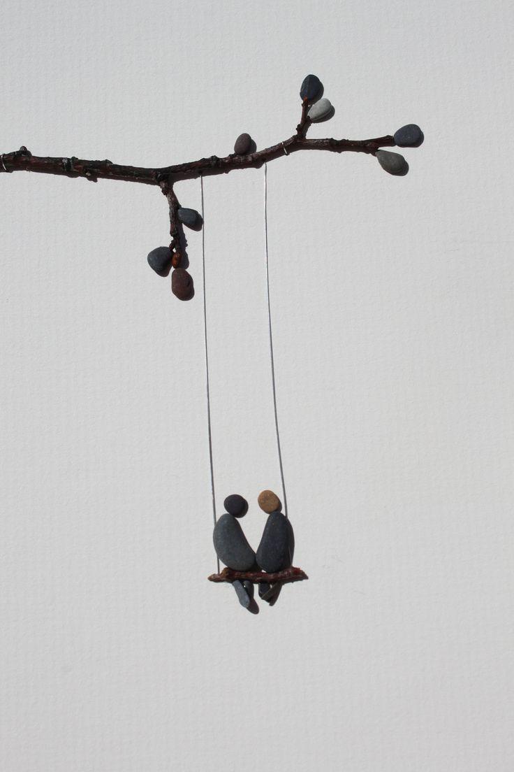 pebble art | swing life away