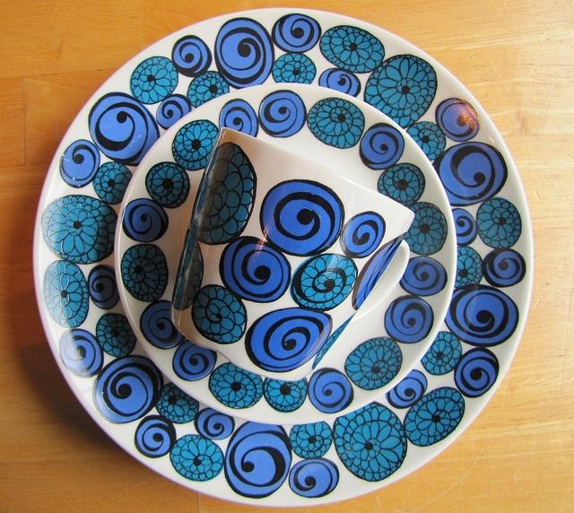 Kirsten Dekor - Figgjo Flint - Saturn pattern by Old World Knits, via Flickr