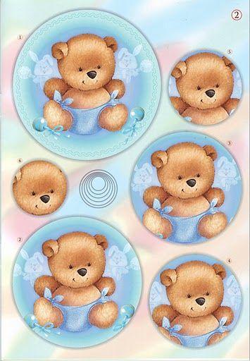 Baby bear pyramid card topper