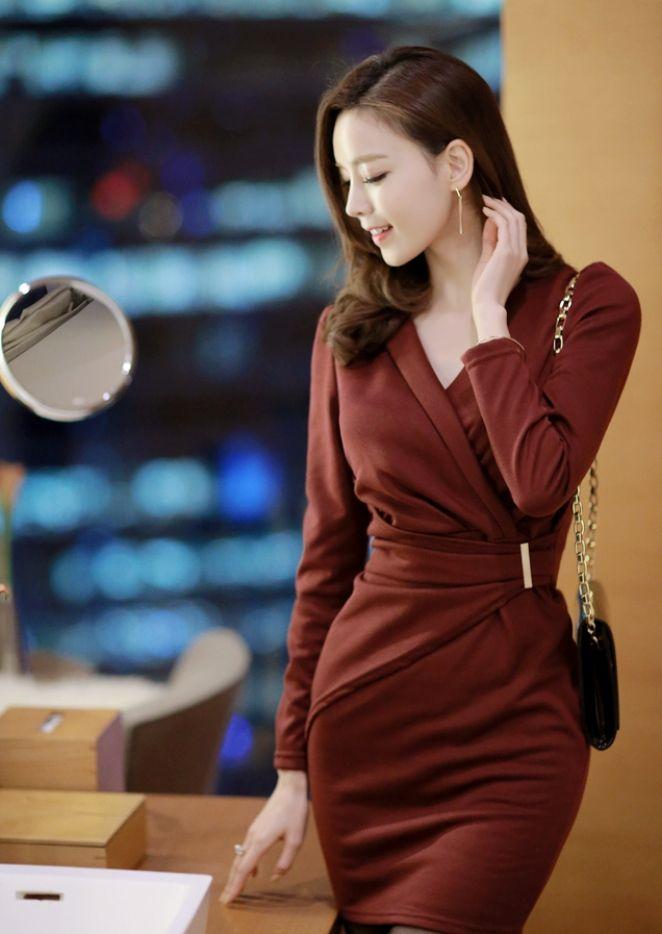 [아뜨랑스] OP1300 / 러브시그널 랩 드레이핑 드레스 : 아뜨랑스