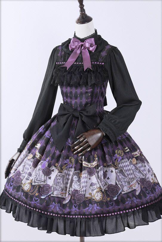 Pre-order: Ista Mori ✦✧~Ace & Alice~✧✦ Lolita Jumper Dress: http://www.my-lolita-dress.com/ista-mori-ace-and-alice-lolita-jumper-dress-im-17 [Size XL for plus-sized Lolitas]
