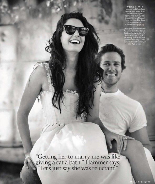 Oh No They Didn't! - Armie Hammer Covers 'Town & Country' with Wife Elizabeth Chambers!